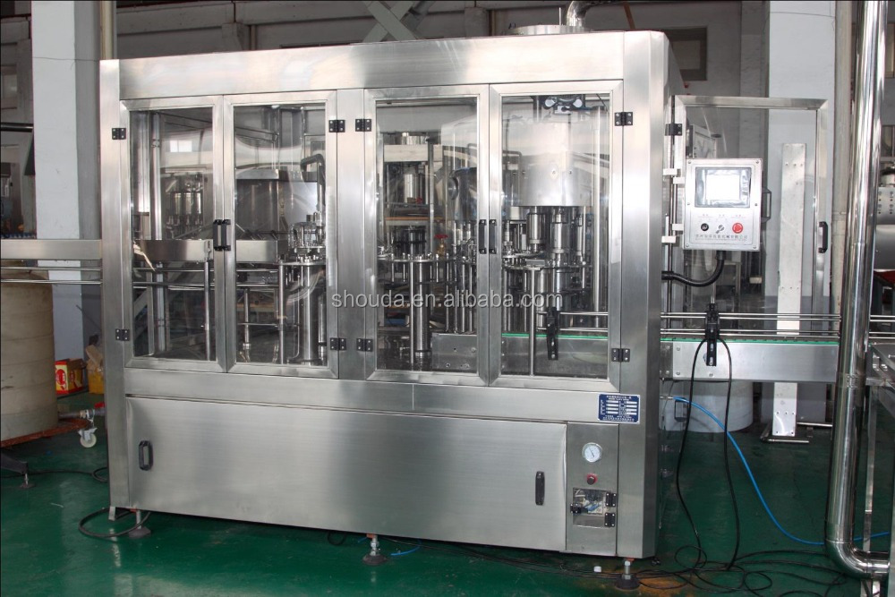 Automatic complete water/drink/tea bottling 3 in 1 filling machine