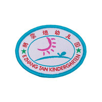 iron on transfer woven patch personalized warning labels for infant carrier