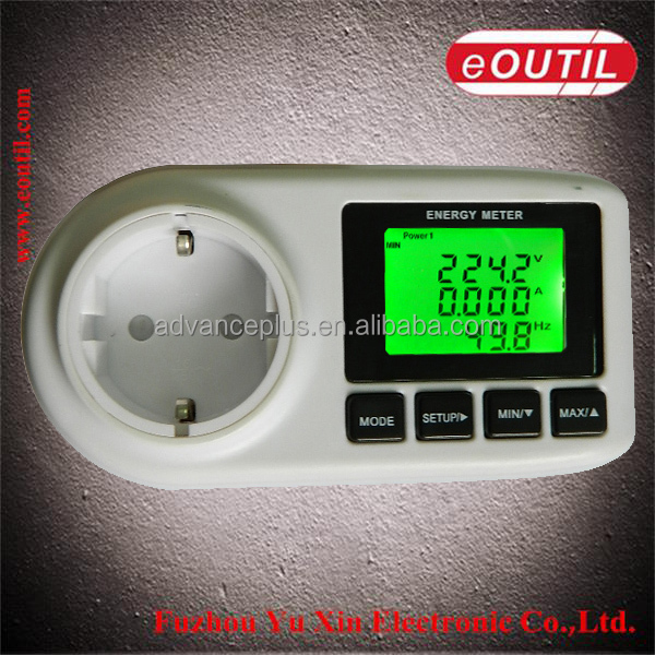 1PC AC 220V or 110V LCD Energy Power Meter Voltage current Volt Test socket Watt
