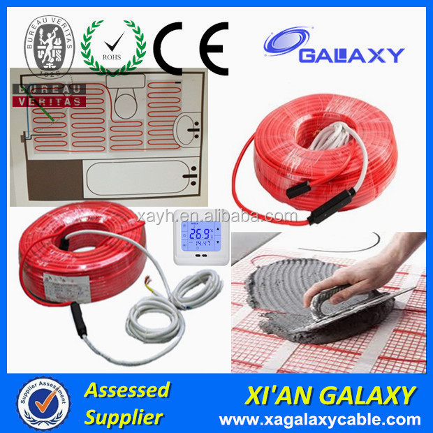 XI'AN GALAXY 230V Home Heating Under Tile Floor Heated Cable Twin Conductor Floor Heated Cable