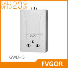 GWD-15 FVGOR Factory New Style Instant Butane Gas Water Heater Gas Geyser