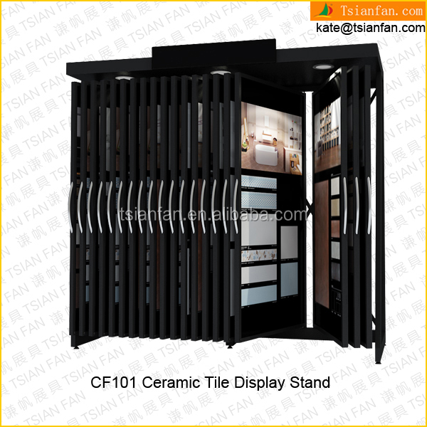 CF101--Turn page plant ceramic tile stand