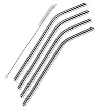 Main product different types stainless steel metal angled bent drinking straw for sale