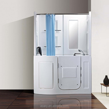 EC-959 walk in tub combo, walk in tub shower combo with seat bathtub