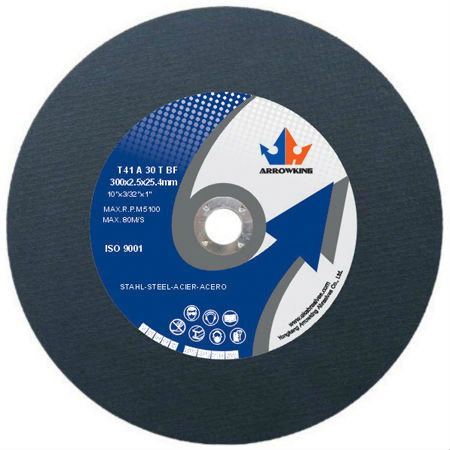 12''Flat Resin Bonded Reinforced Cutting Wheel for Metal