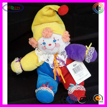 B043 Shenzhen Factory Custom Baby Clown Doll Stuffed Soft Colorful Fabric Clown Doll