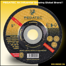 "5"" 125x6x22 PEGATEC granite abrasive grinding wheel for metal with MPA EN12413"