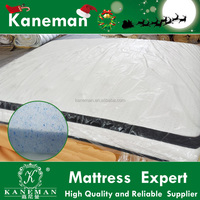 Ultra soft gel memory foam encased bonnell spring mattress roll up queen size mattress