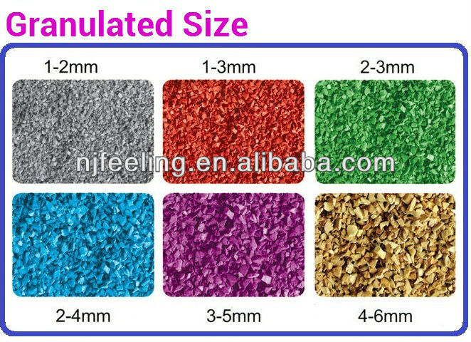 a-Epdm rubber granule/rubber scrap/granulated rubber flooring made from safety material-G-Y-178