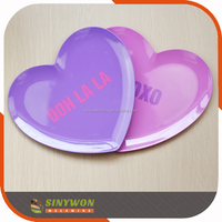 Heart Shaped Plastic Wholesale Wedding Plate Party Plate