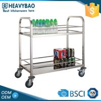 Stainless Steel Knocked-down Mobile Kitchen High Quality Outdoor Trolley Food Cart