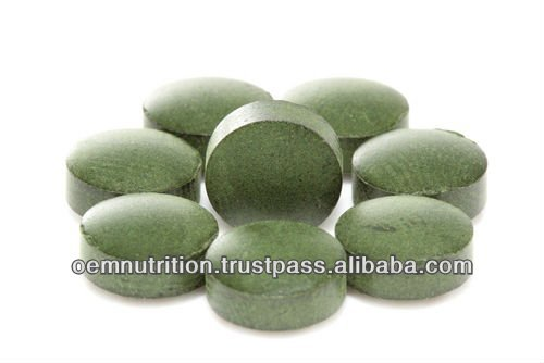 Dietary Supplement 500mg Tablets Organic Spirulina