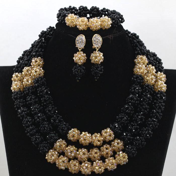 Latest design african wedding beads jewelry set nigerian beads ...