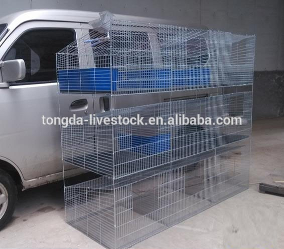 New design h type rabbit kennels made in China popular pine wood indoor rabbit cages