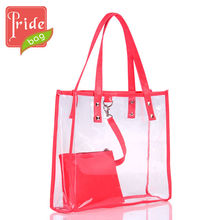 2013 Clear Beach PVC Tote Bag Handbag Fashion Latest Ladies Handbags