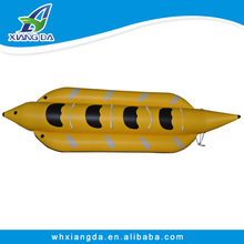 PVC fabric Inflatable water games flyfish banana Boat cheap to sell