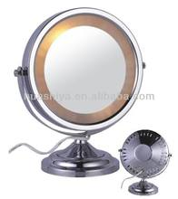 HSY-1078L girls stand up round led makeup mirror