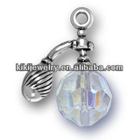 latest gifts for girls perfume bottle with crystal pendant charms (184128)