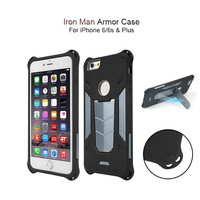 Iron Man!!! Shockproof impact resistance hard tpu+pc dual layer kickstand armor mobile cell phone case for iphone 6 6s plus