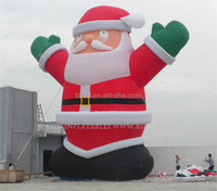 2015 gaint fat standing Santa Claus inflatable advertising, Christmas inflatable Santa Claus balloon C1039