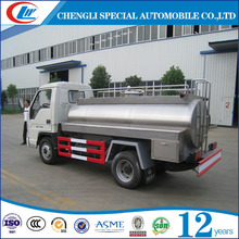 Dongfeng 2 Axle Milk Transport Trailer Truck 4x2 Diesel Tanker Trailer For Sale