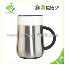 New Hot Stainless Steel and Bone China Ceramic Mug