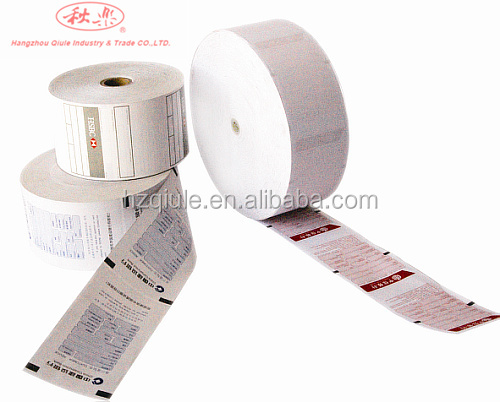 80mm*80mm atm paper roll with senser marks
