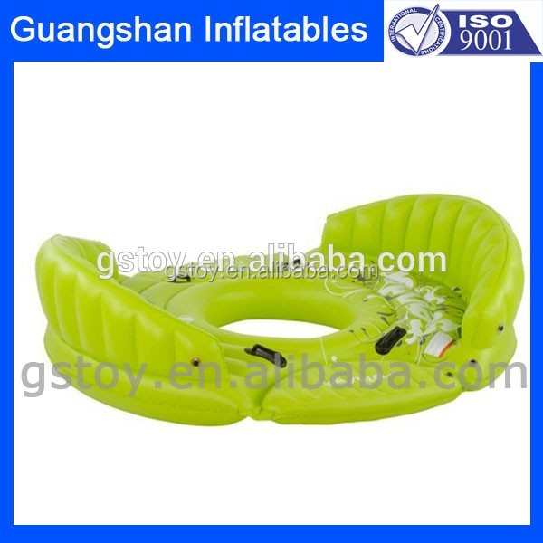 custom gaint inflatable floating island pool with sofa seat