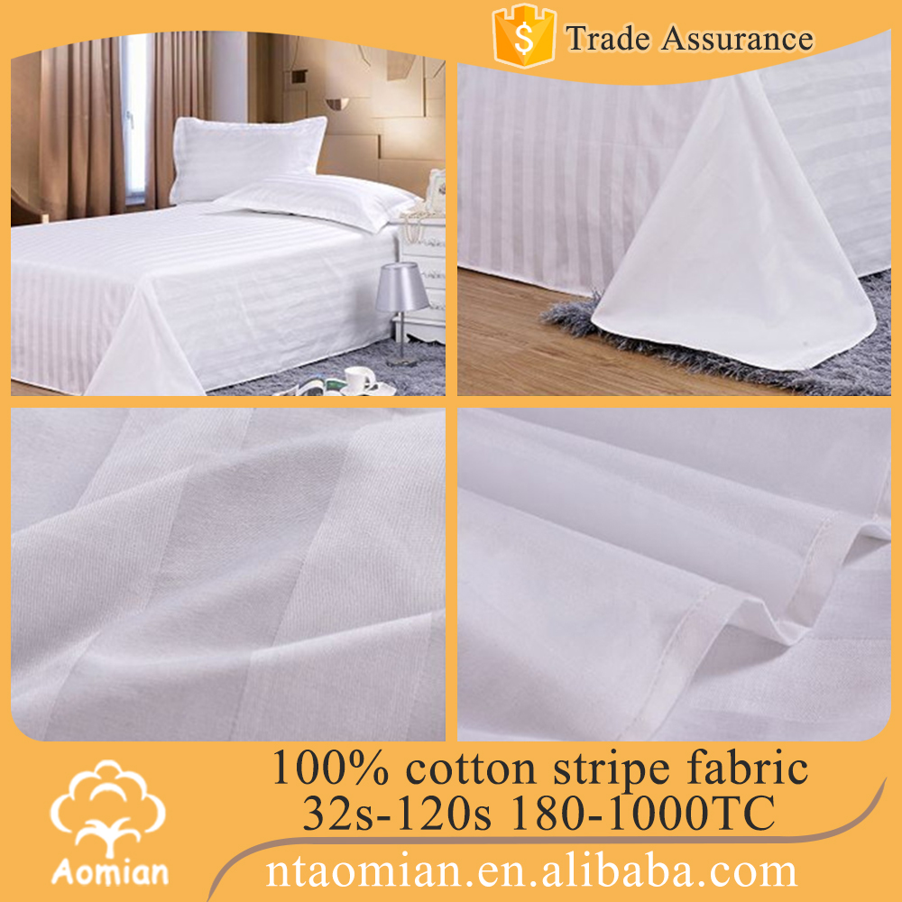 250 - 1000 TC 100% cotton satin bed cover fabric