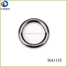 Black nickel alloy single circle ring buckle used for lady boot shoe