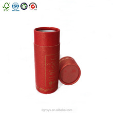 Hot sale !!! tea paper packaging tshirt cylinder paper tube packaging box with small