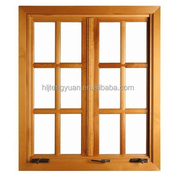 Good quality new design solid wood casement window buy for Wooden window design with glass