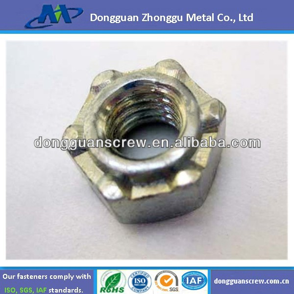 stainless steel M4 hexagon weld nut