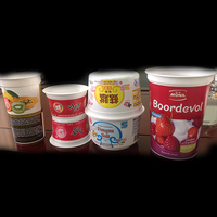 Injection plastic yogurt cup with GMP plant and super offset printing