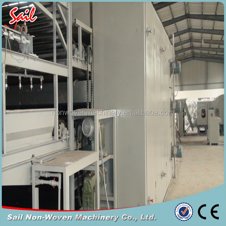 Nonwoven Automatic Mattress Polyester Wadding Thermal Bonding Production Line