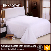 50% Cotton 50% Polyester Bed Linen Set Hotel Linen Bed Sheet Factory