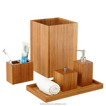 FB7-2019 Fuboo brand full bamboo bathroom accessories set toothbrush holder