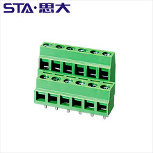 AC 300V 10A 5.08mm Pitch 2 Pin 3 position Screw Terminal Block UL certification 14-22awg connector