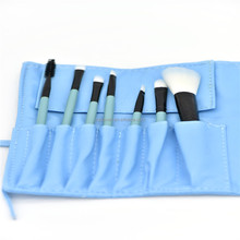 New design 7pcs blue oval makeup brush set/professional face air brush makeup/makeup cosmetic brush kit