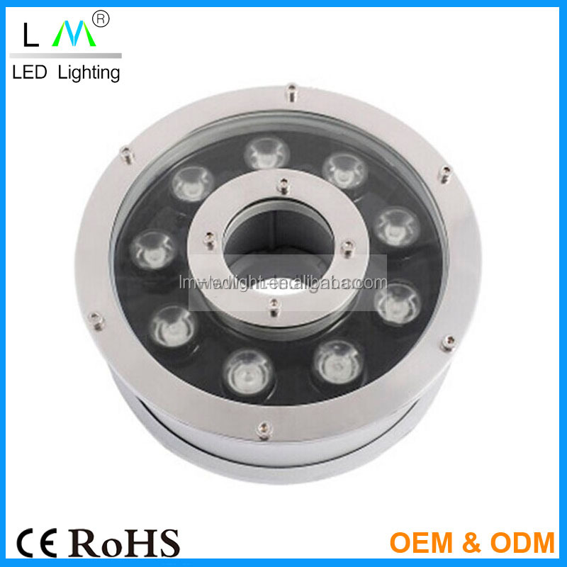 Underwater Submersible Spot Light 12W 15W 18W LED Fountain Fish Pond Garden Water Lamp