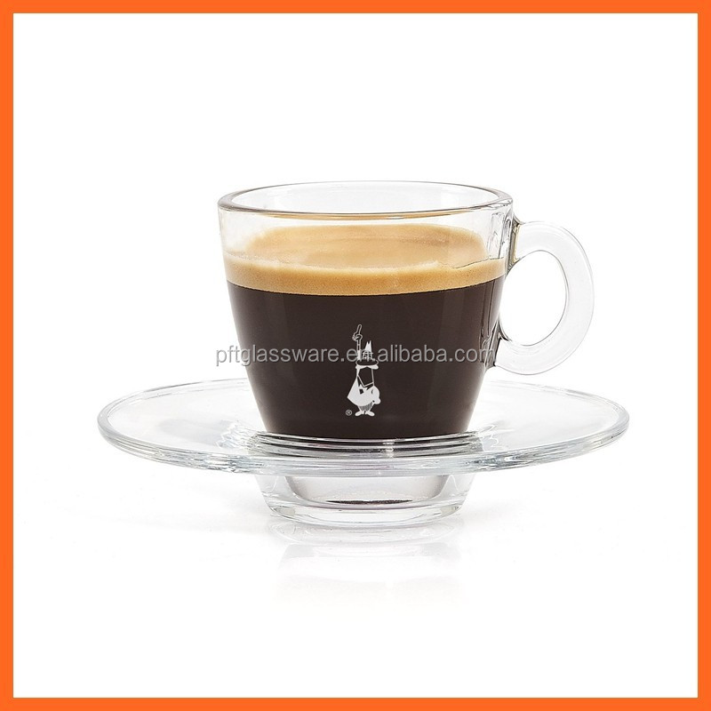 Promotion Gift Different Types of Custom Printed High Clear Tea Cups and Saucers