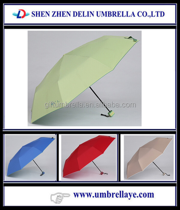 company advertising slogan printed three folding rain umbrella marketing and promotional materials