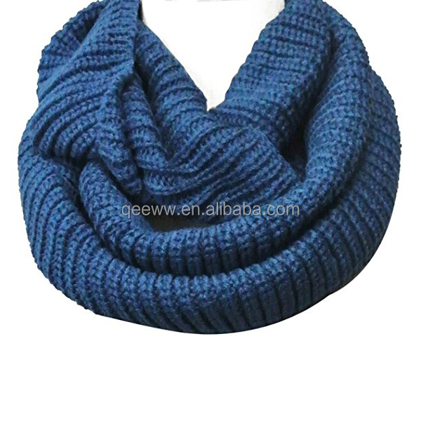 2017 Yhao Amazon Hot Sale Thick Knitted Winter Warm Infinity Scarf