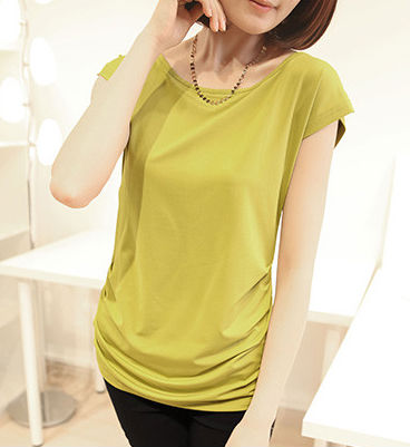 elegant womens suits, bright color chiffon blouse, crop top wholesale