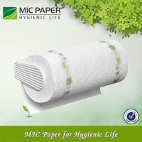 Ultra Absorbent White Printing Kitchen Paper Towel / printing roll kitchen paper