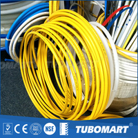 Tubomart Wholesale new style metal and plastic pipe flexible yellow pvc gas pipe with standard