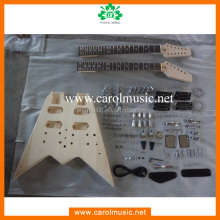 GK069 Unfinished DIY double neck electric guitar kit for sale