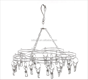 China supplier stainless metal flower shaped hanging clothes rack