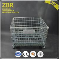 China Folding Collapse Plastic Wire Storage Containers Collapsible Roll Mesh Cage