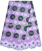 fashion african African voile lace lilac blue color